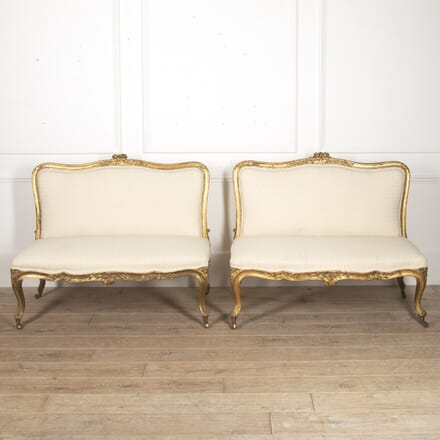Pair of English 19th Century Giltwood Banquettes SB8816071