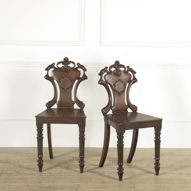 Pair of 19th Century English Hall Chairs OF889636