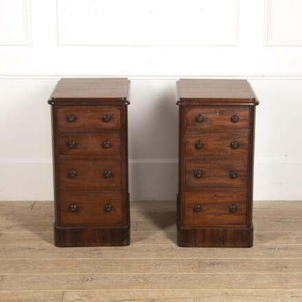 Pair of English 19th Century Pedestal End Tables CO8815999