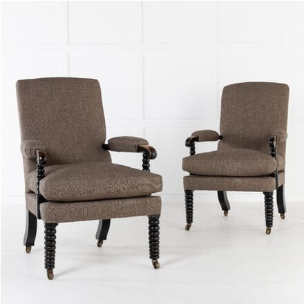 Pair Of 19th Century English Regency Bobbin Armchairs CH0611273
