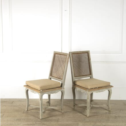 Pair of 19th Century French Caned Side Chairs CH459811