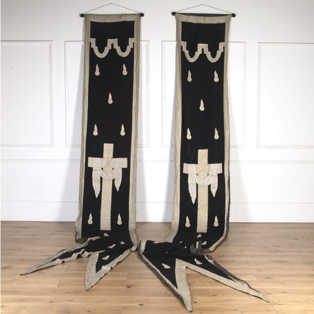 Pair of French 19th Century Church Wall Hangings WD8016049