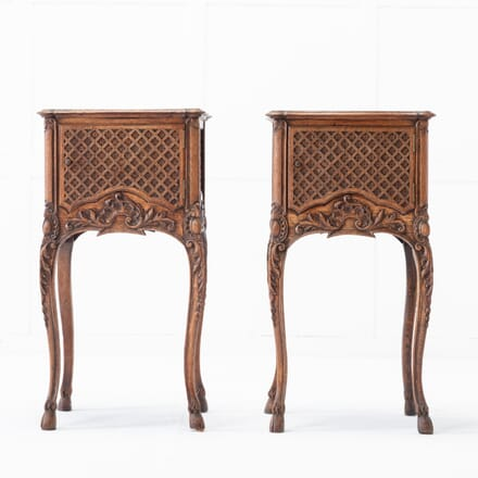 Pair of French 19th Century Oak Nightstands BD0616608