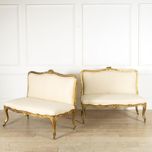 Pair of 19th Century Gilt/Upholstered Banquettes SB889721