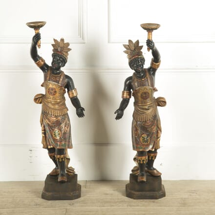 Pair of 19th Century Italian Blackmore Figure Candelabra DA0310157