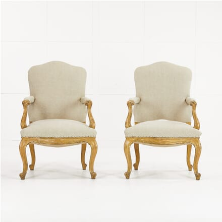 Pair of 19th Century Italian Gilt Armchairs CH0610184