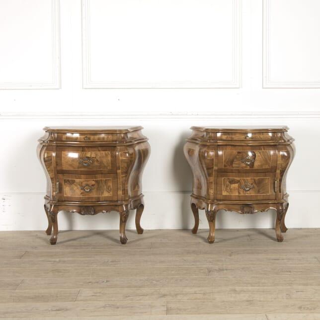 Pair of 19th Century Italian Walnut Commodes BD5210447