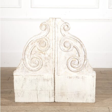 Pair of Large French 19th Century Corbels GA4415859