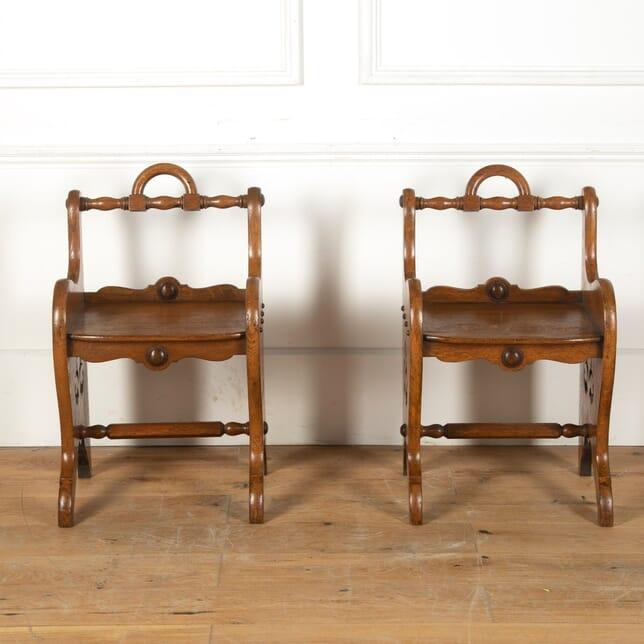 Pair of 19th Century Oak Stools ST0311388