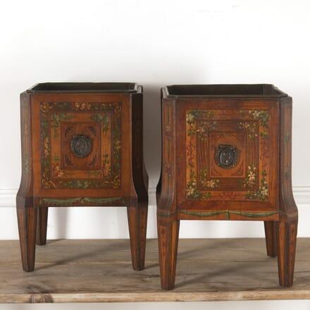 Pair of 19th Century Satinwood Jardinières GA2512075