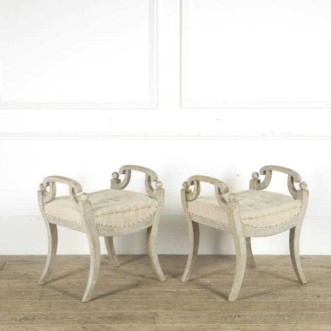 Pair of 19th Century Swedish Stools ST609296