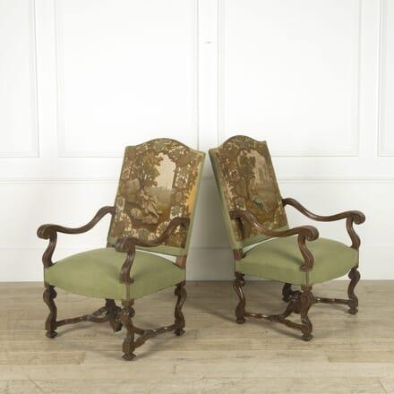 Pair of 19th Century Walnut Armchairs CH529795