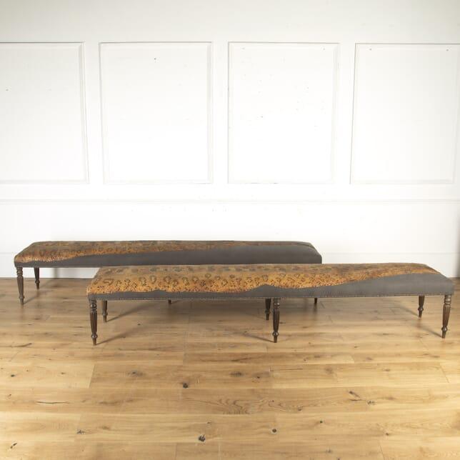 Pair of 20th Century Gallery Mahogany Benches SB4714903