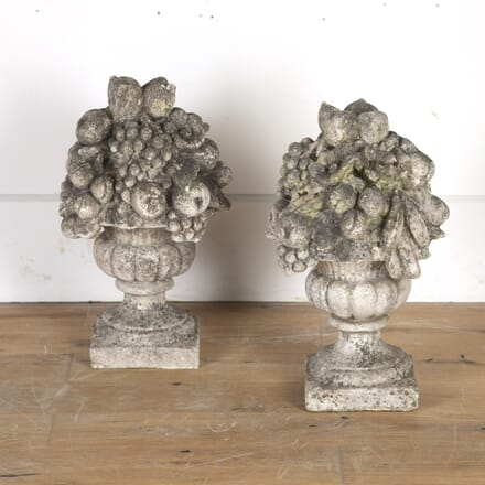 Pair of 20th Century Carved Stone Finials GA8114392