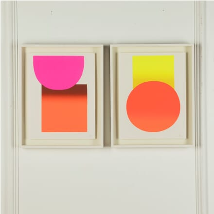 Pair of Abstract Geometric Screen-Prints WD7610885