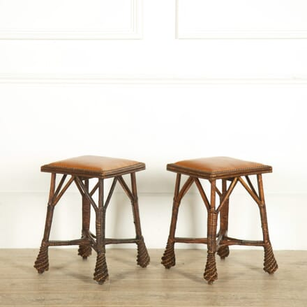 Pair of Aesthetic Movement Stools ST159058