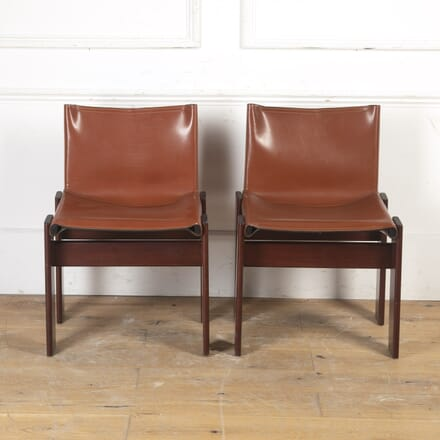 Pair of Leather Chairs by Afra & Tobia Scarpa CH8716662
