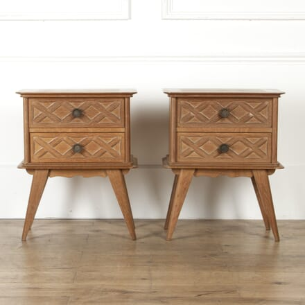 Pair of Art Deco Limed Oak Cabinets BD8517319