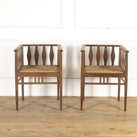 Pair of Arts & Crafts Oak Chairs CH9014361