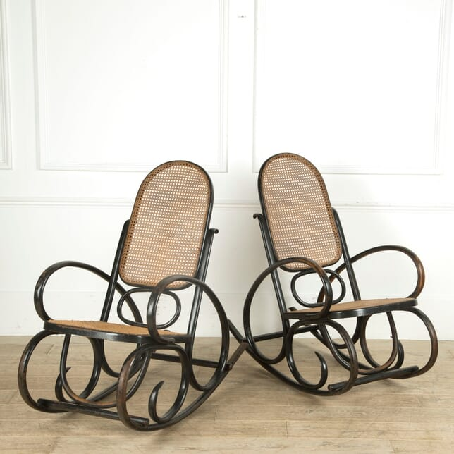 Pair of Bentwood Rocking Chairs OF159736