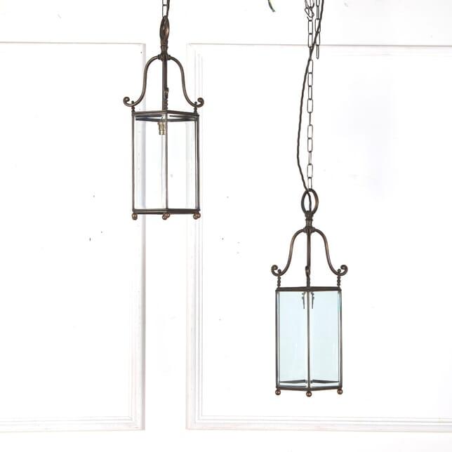 Pair of Bevelled Glass Lanterns GA2110757