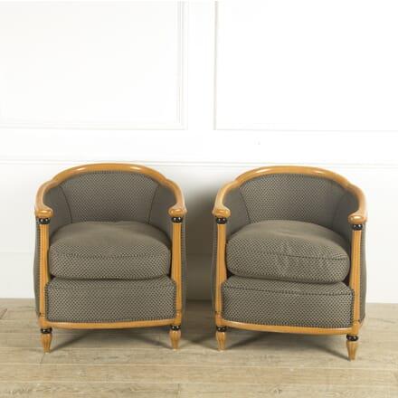 Pair of Biedermeier Style Beechwood Armchairs CH889958