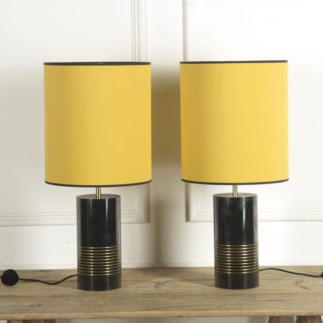 Pair of Black and Brass Lamps LT309938