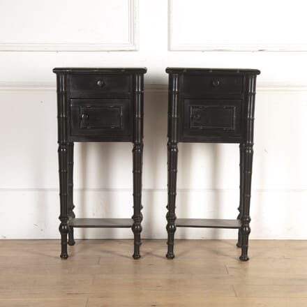 Pair of Ebonised Bedside Tables CO8416105