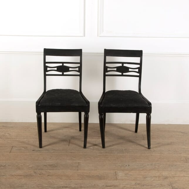 Pair of Black Painted Chairs CH1311429