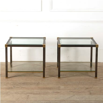 Pair of Brass and Gunmetal Tables CT3011027