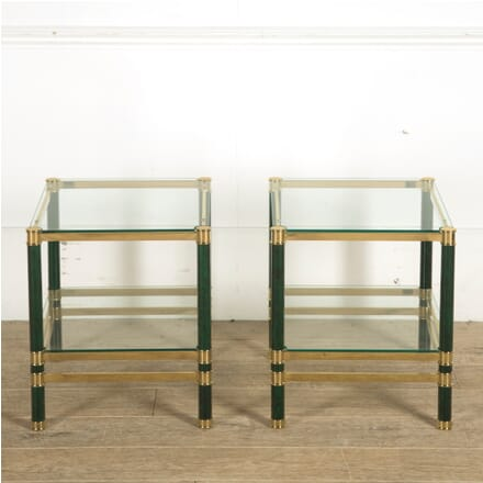 Pair of Brass and Lacquered Metal Side Tables CT3010384