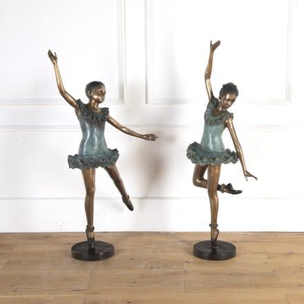 Pair of Brass Ballerina Figures DA8413910