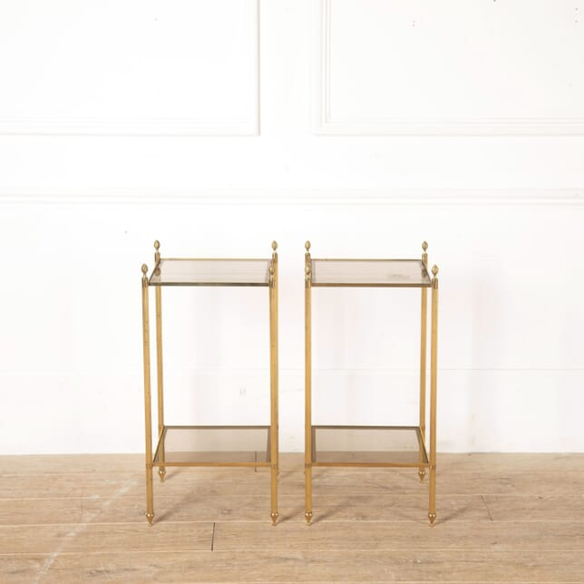 Pair of Mid Century Brass End Tables TS3513662
