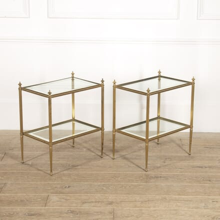 Pair of French Brass End Tables TC3514748