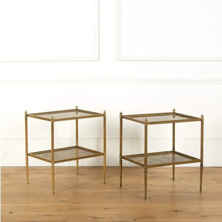 Pair of Brass End Tables TC359012