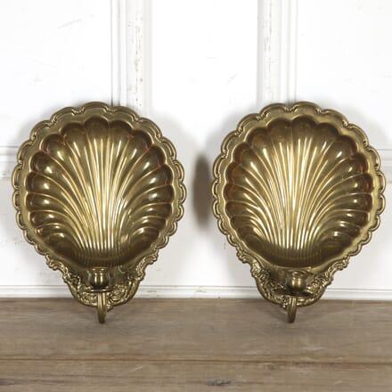 Pair of Brass Shell Wall Sconces DA5916454