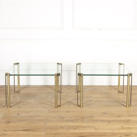 Pair of Brass and Glass Side Tables TA7914958