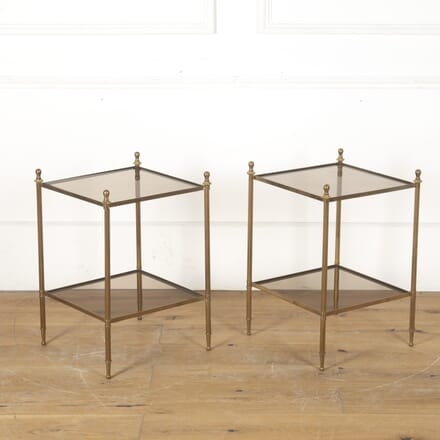 Pair of French Brass Tables CO3514263