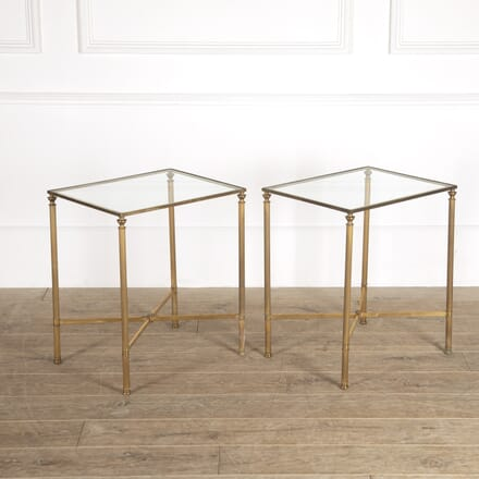 Pair of French Brass Side Tables CO3014419
