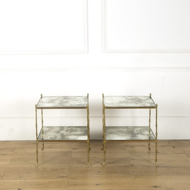 Pair of Brass Two Tier Side Tables CO539611