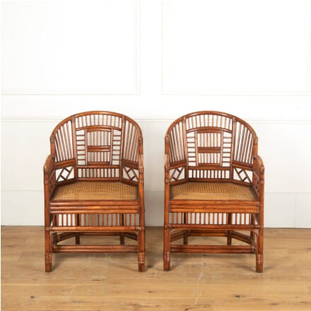 Pair of Brighton Pavillion Bamboo Barrel Chairs CH5911328