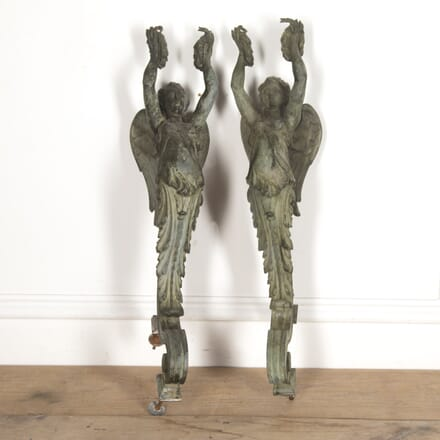 Pair of French Bronze Wall Appliqués LW2915886
