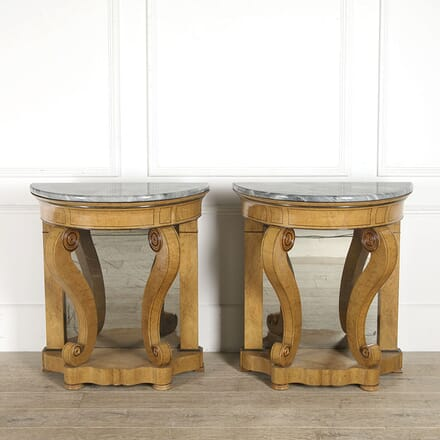 Pair of Early 19th Century Burr Elm Console Tables CO7310396