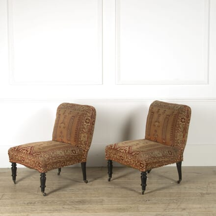 Pair of Carpet Covered Side Chairs CH459240