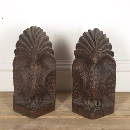 Pair of French Exotic Bird Bookends DA1515337