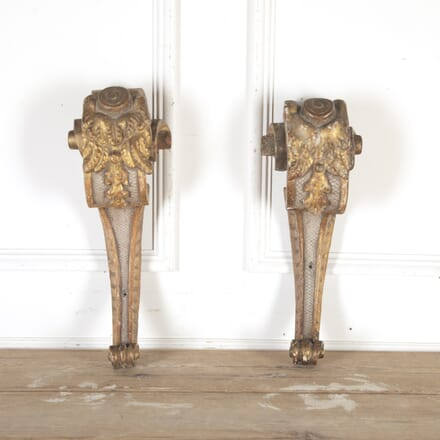Pair of Carved Giltwood Corbels DA8013758