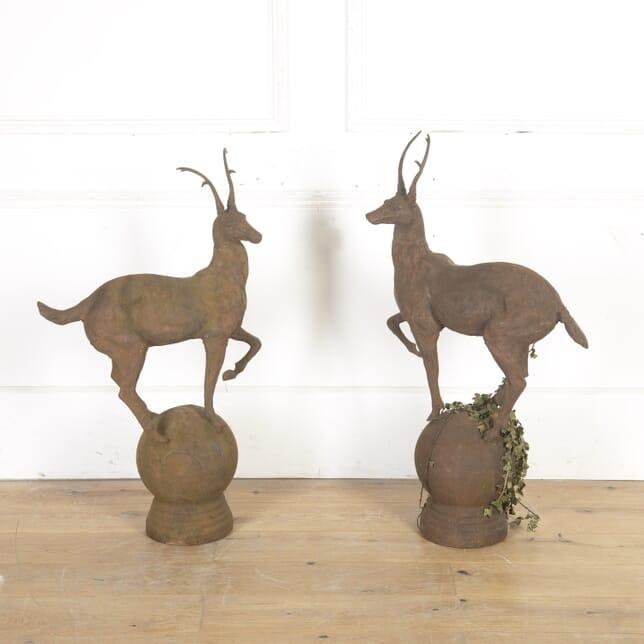 Pair of Cast Iron Deer DA7914969