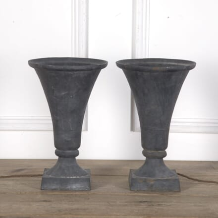 Pair of Cast Iron Trumpet Lamps LT3610278