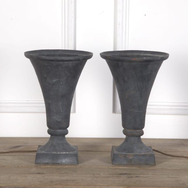 Pair of Cast Iron Trumpet Lamps LT3610278