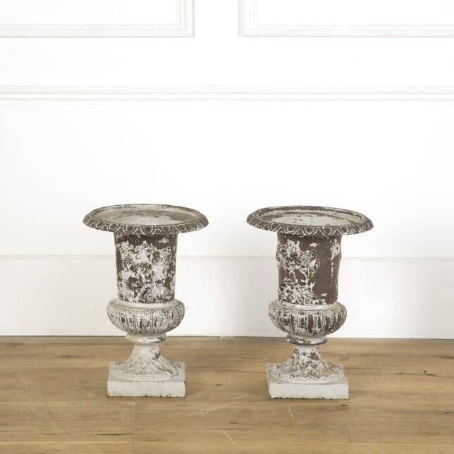 Pair of Cast Iron Urns DA739170